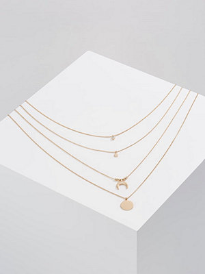 Only ONLLIZZI 4 PACK Halsband goldcoloured