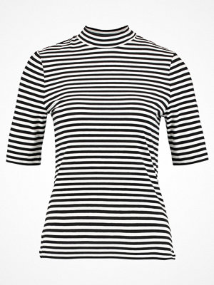 comma casual identity Tshirt med tryck black/white