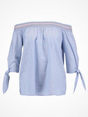 Dorothy Perkins SHIRRED BARDOT Blus blue