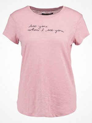 Abercrombie & Fitch Tshirt med tryck pink