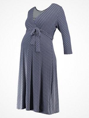 Anna Field MAMA Jerseyklänning dark blue/light blue/offwhite