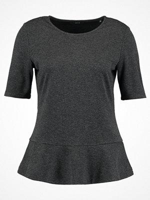 Opus SERPLUM PEPITA Tshirt med tryck iron grey melange