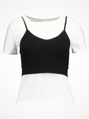 Even&Odd Tshirt med tryck white/black
