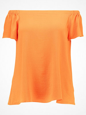New Look Curves BUBBLE BARDOT Blus orange pattern