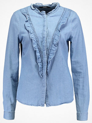 Vero Moda VMRAVEN RUFFLE Skjorta light blue denim