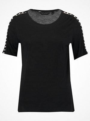 Dorothy Perkins PEARL TRIM Tshirt med tryck black