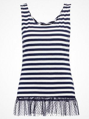Dorothy Perkins STRIPE Tshirt med tryck navy blue