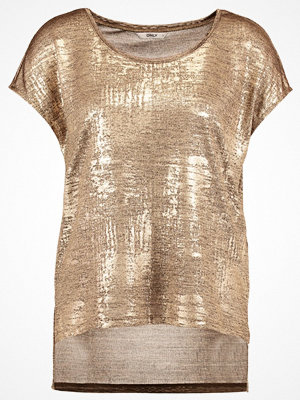 Only ONLPLEARL Tshirt med tryck gold colour