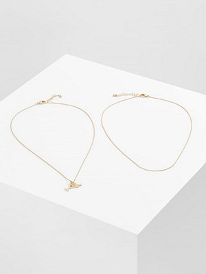 Only MELINA GIFT CARD BOX DRINK 2 PACK Halsband goldcoloured