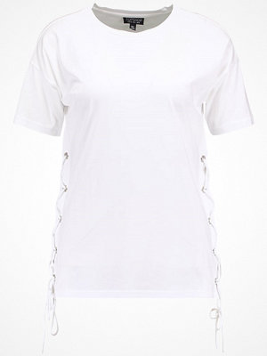Topshop SIDE LACE UP  Tshirt bas white