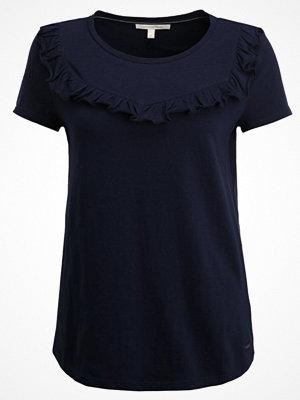 Tom Tailor Denim RUFFLE CREW Tshirt med tryck real navy blue