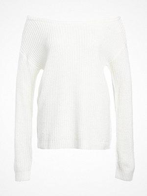 Tröjor - Missguided OPHELITA OFF SHOULDER Stickad tröja cream