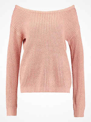 Missguided OPHELITA OFF SHOULDER Stickad tröja pink