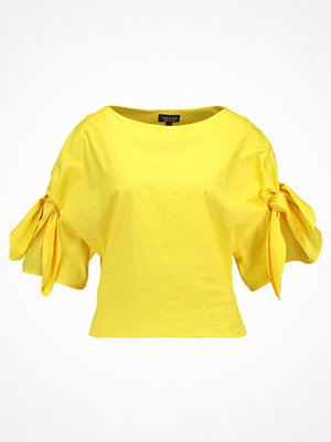Topshop BOW SLEEVE Blus yellow