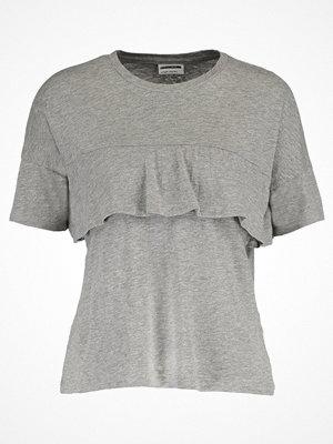 Noisy May NMREINA Tshirt med tryck light grey melange