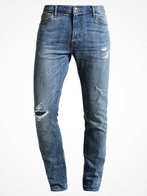 Abercrombie & Fitch SLIM MEDIUM DESTROY  Jeans slim fit blue