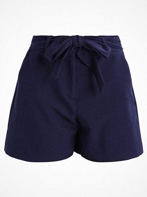 Shorts & kortbyxor - Dorothy Perkins OCEAN CREPE TIE Shorts navy blue