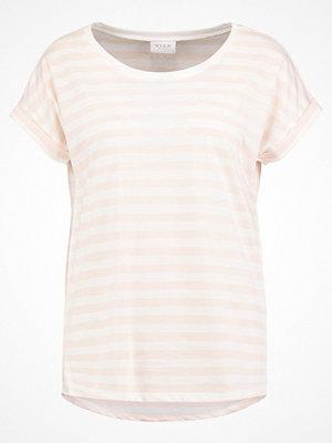 Vila VIDREAMERS PURE LUX Tshirt med tryck peach whip/snow white