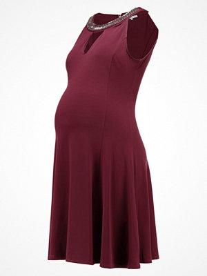 Anna Field MAMA Jerseyklänning bordeaux