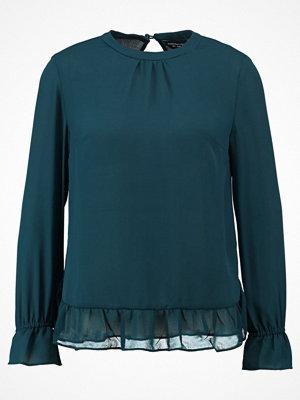 Dorothy Perkins GATHERED NECK AND CUFF  Blus dark green