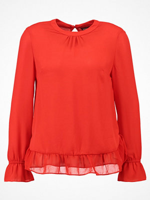 Dorothy Perkins GATHERED NECK AND CUFF  Blus red