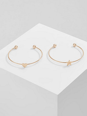 Only ONLBENU LUCKY 2 PACK Armband goldcoloured