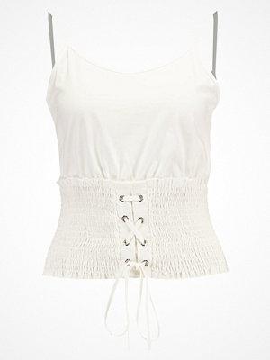 Topshop SHIRRED CORSET  Linne white