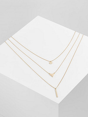 Only ONLBRIA 3 CHAIN  Halsband goldcoloured