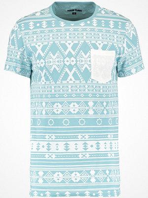 YourTurn Tshirt med tryck blue/white