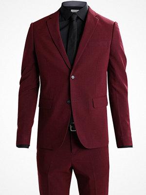 Kavajer & kostymer - Lindbergh SLIM FIT Kostym bordeaux melange