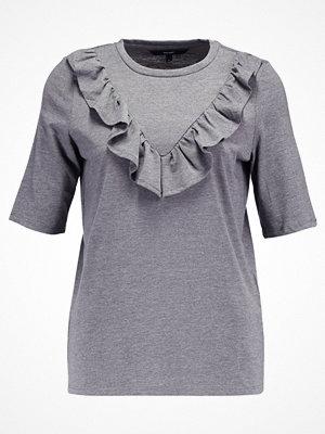 Vero Moda VMJEMIA FRILL Tshirt med tryck medium grey melange