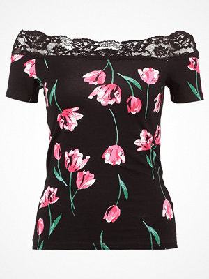 Dorothy Perkins TULIP TRIM BARDOT Tshirt med tryck black
