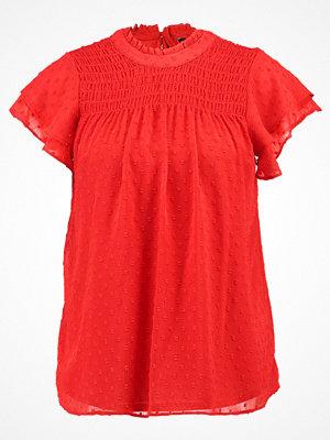 Dorothy Perkins SHIRRED DOBBY Blus red