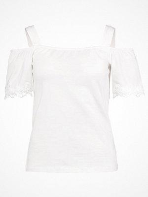 Dorothy Perkins COLD SHOULDER Tshirt med tryck ivory