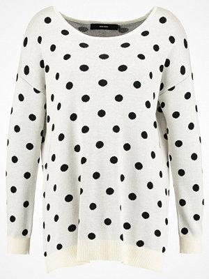 Vero Moda VMDOTTY  Stickad tröja eggnog/black