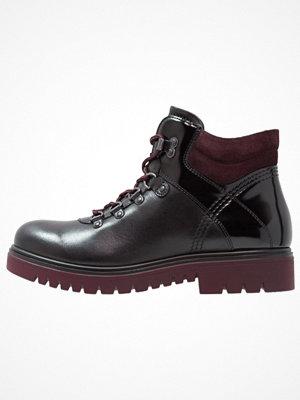Boots & kängor - Tamaris Ankelboots black/bordeaux