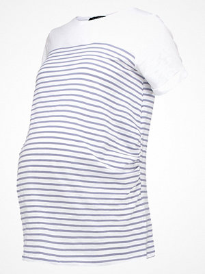 New Look Maternity PLAIN YOKE STRIPE Tshirt med tryck blue