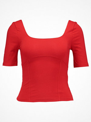 Miss Selfridge CORSET SEAM  Tshirt bas red