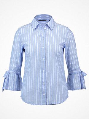 Skjortor - Dorothy Perkins STRIPE FLUTE SLEEVE TIE  Skjorta blue