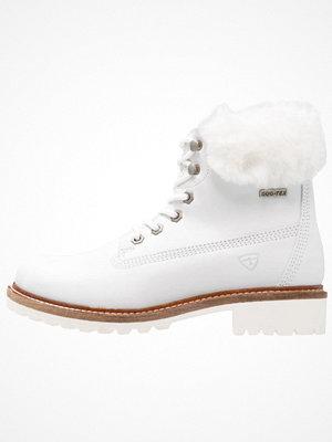 Boots & kängor - Tamaris Snörstövletter white