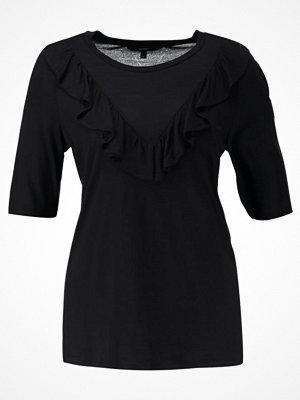 Vero Moda VMJEMIA FRILL Tshirt med tryck black