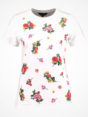 New Look FLORAL PUFF PRINT Tshirt med tryck white