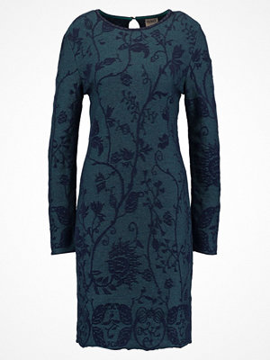 Ivko FLORAL Stickad klänning marine