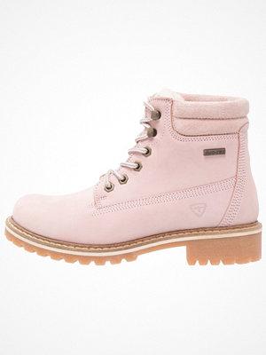 Boots & kängor - Tamaris Snörstövletter pink