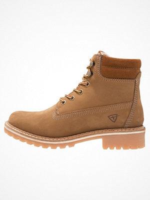Boots & kängor - Tamaris Snörstövletter cognac