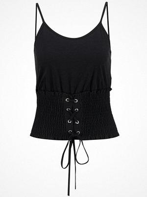 Topshop SHIRRED CORSET  Linne black