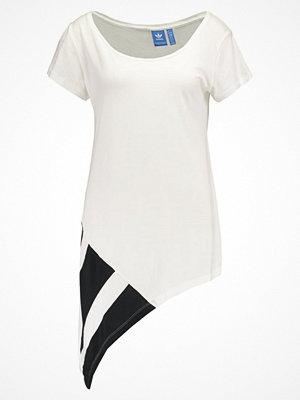 T-shirts - Adidas Originals EQT BLOCK  Tshirt med tryck white/black