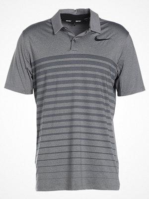 Pikétröjor - Nike Golf DRY STRIPE Funktionströja dark grey/black/black