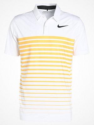 Nike Golf DRY STRIPE Funktionströja white/laser orange/black