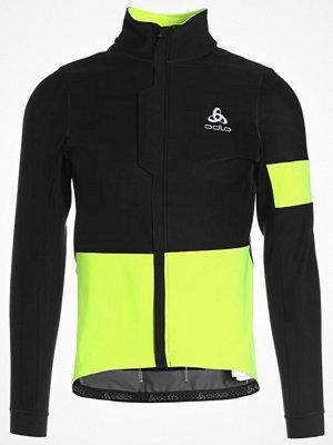 Regnkläder - ODLO VLAANDEREN             Regnjacka black/safety yellow